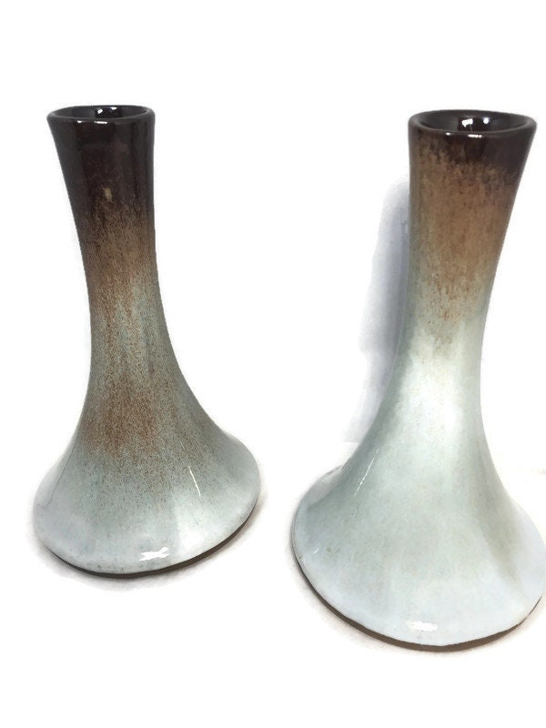 Image 0 of Mid Century Peter Pots Pottery Candleholders