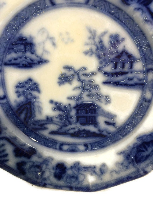 Image 4 of Antique Flow Blue Plate