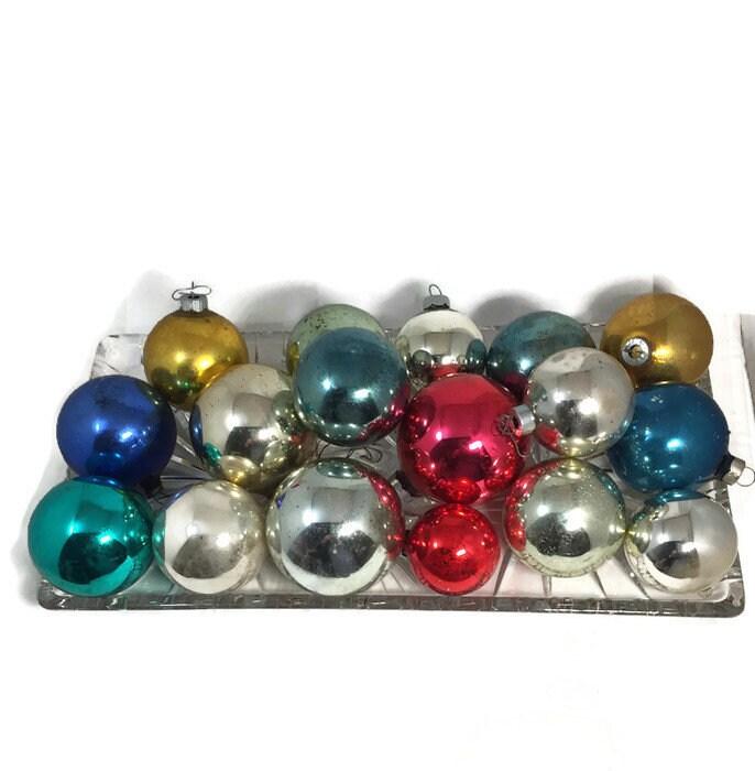 Mid Century Christmas Glass Ornaments