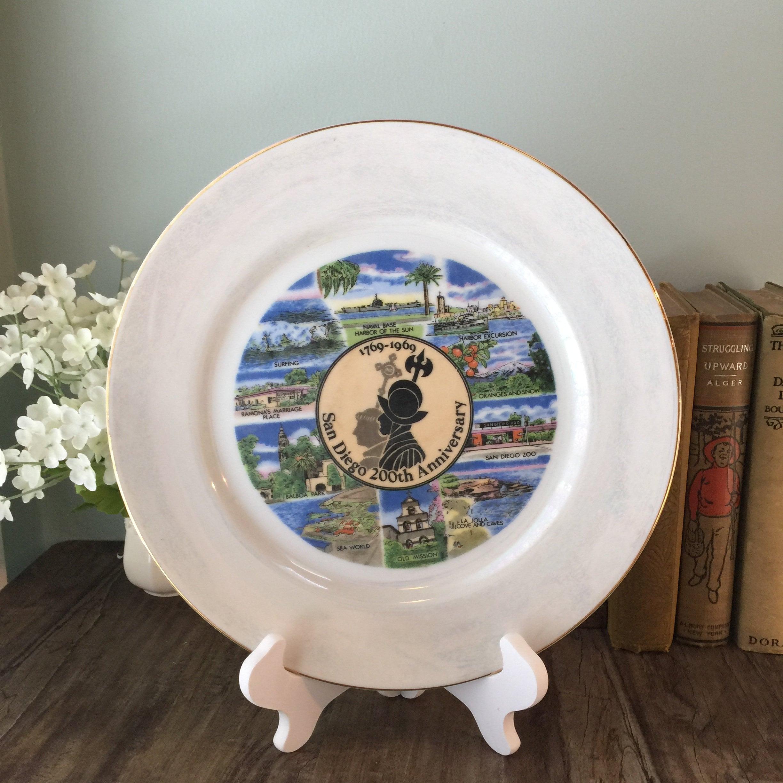 Image 0 of Vintage San Diego Souvenir Plate