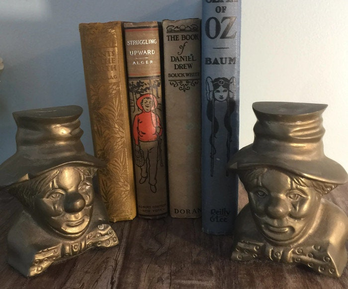 Image 3 of Vintage Clown Bookends