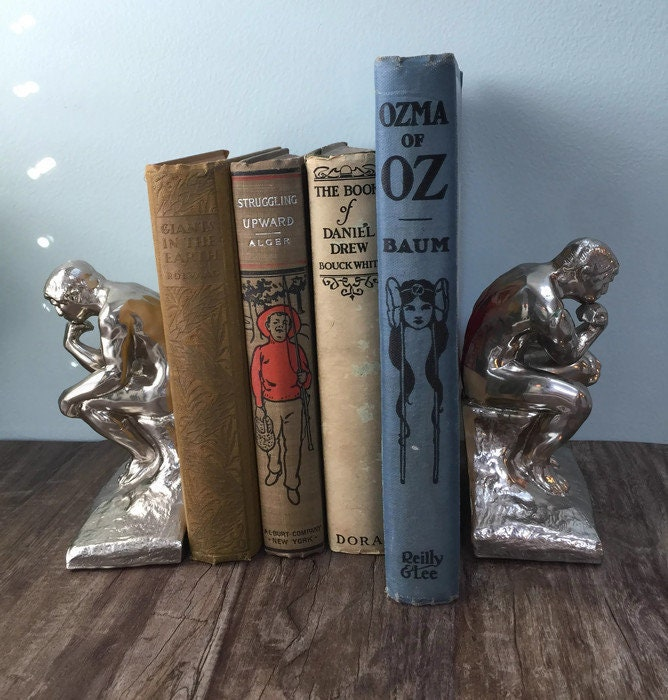 Image 9 of Vintage The Thinker bookends