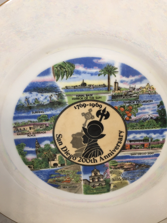 Image 3 of Vintage San Diego Souvenir Plate