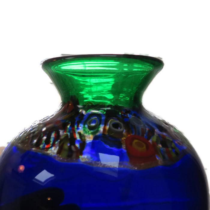 Image 2 of Handblown Blue Glass Vase