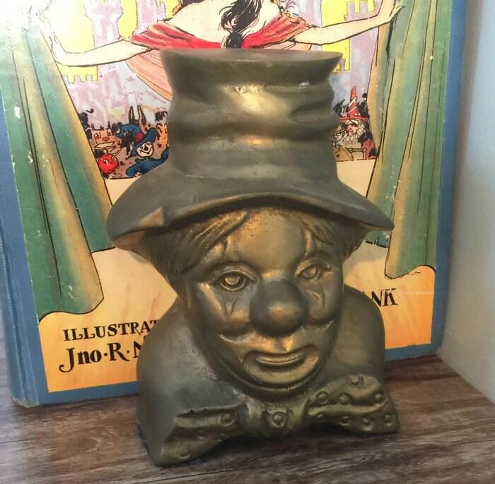 Vintage Clown Bookends