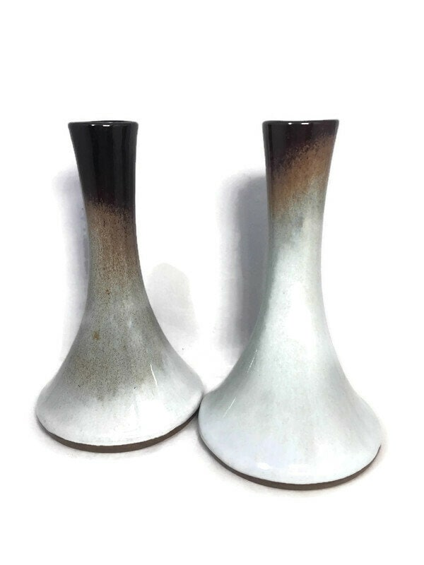 Image 7 of Mid Century Peter Pots Pottery Candleholders