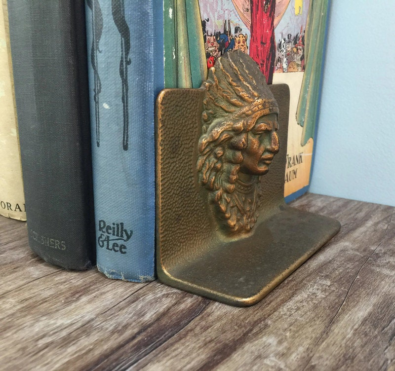 Image 6 of Vintage Indian Chief Bookends