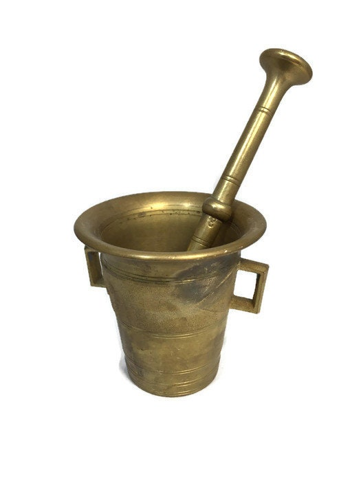 Antique Brass Morter and Pestle