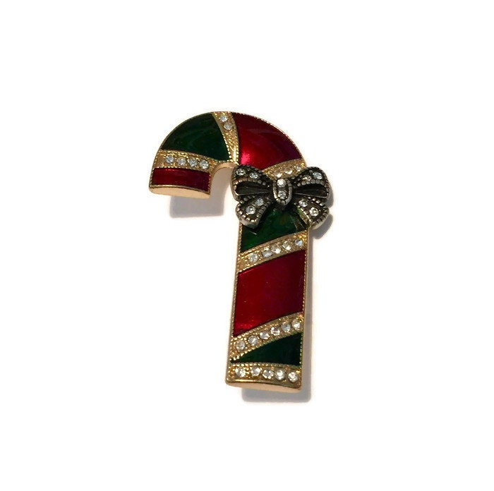 Vintage Christmas Candy Cane Pin