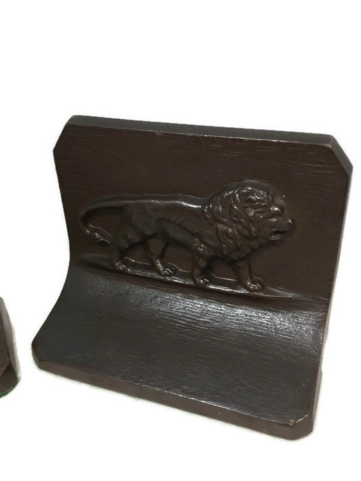 Image 8 of Antique Lion Bookends