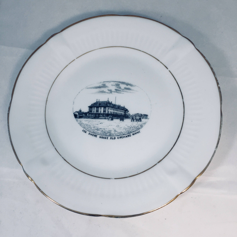 Antique Old Orchard Beach Maine Souvenir Plate