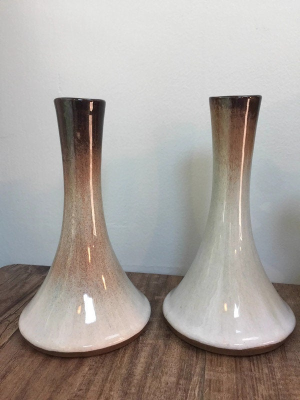Image 9 of Mid Century Peter Pots Pottery Candleholders