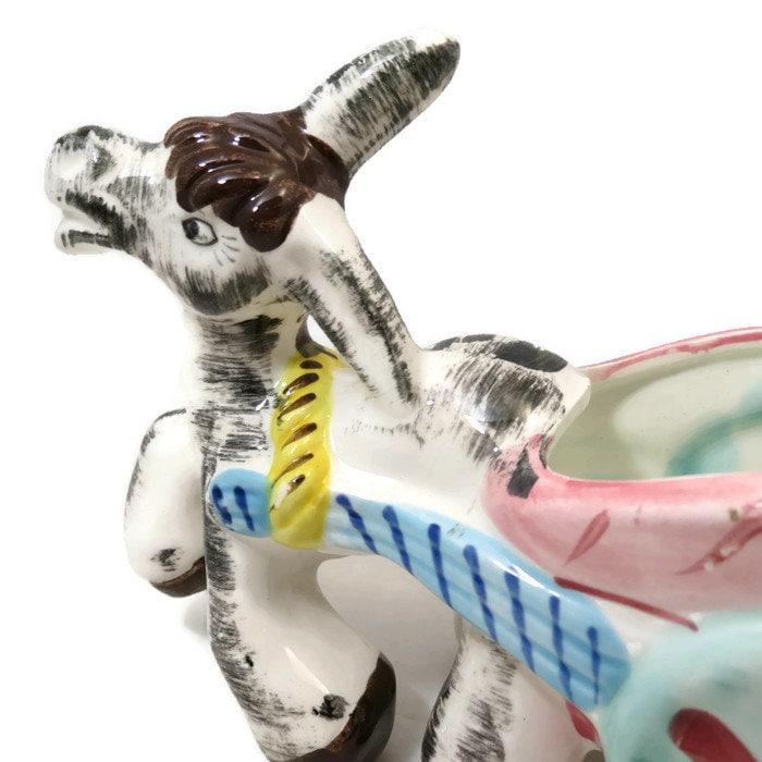 Image 7 of Donkey Cart Ceramic Planter