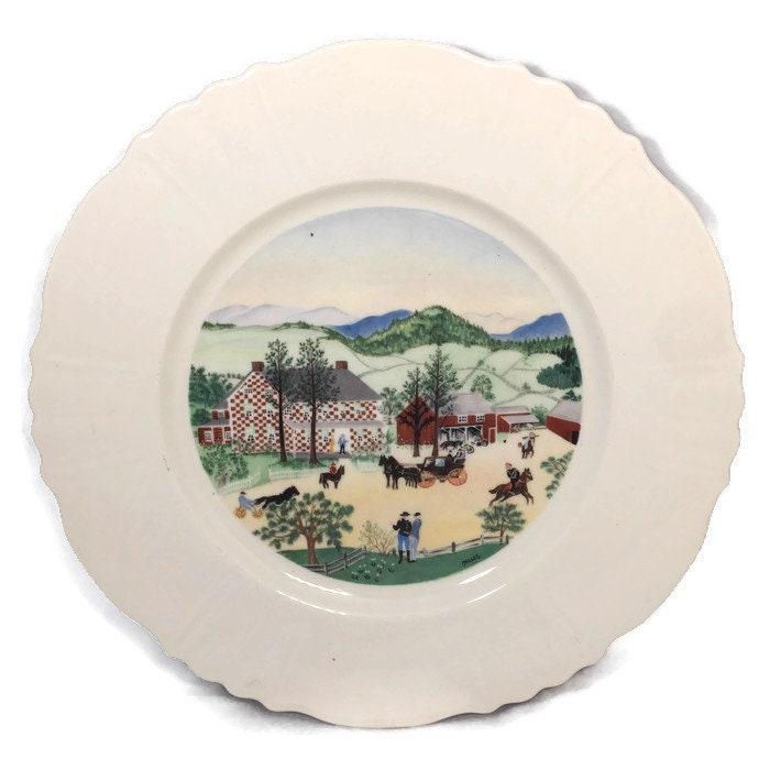 Vintage Grandma Moses Plate