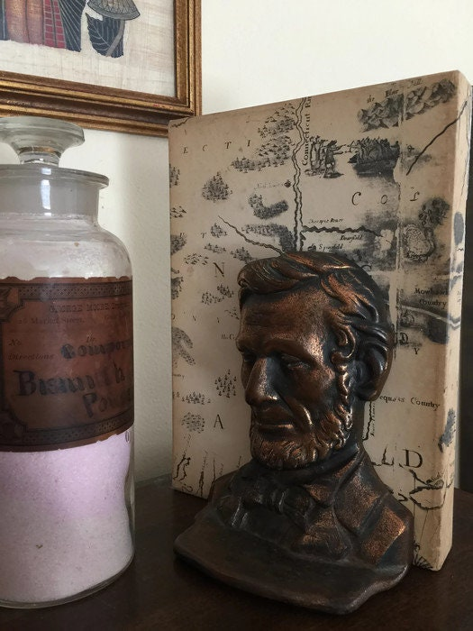 Image 9 of Antique Abe Lincoln Bookends