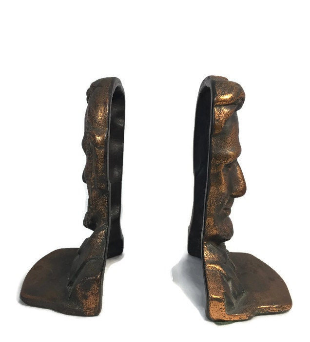 Image 2 of Antique Abe Lincoln Bookends