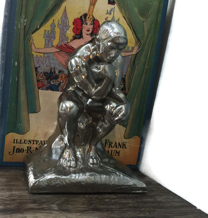 Image 5 of Vintage The Thinker bookends