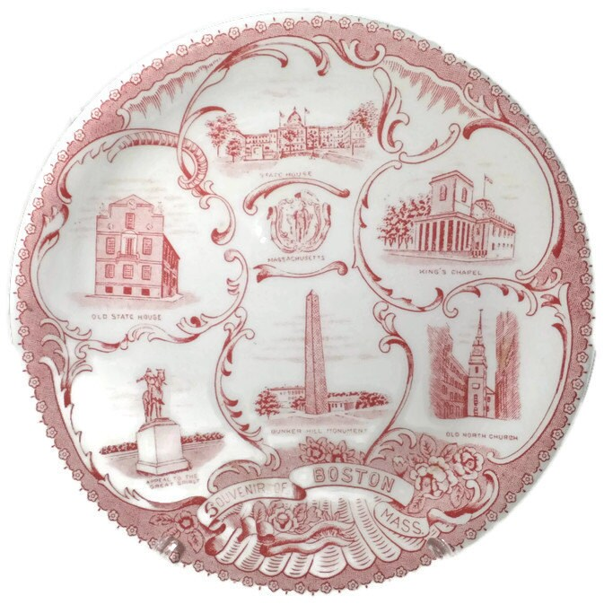 Vintage Boston Massachusetts Plate