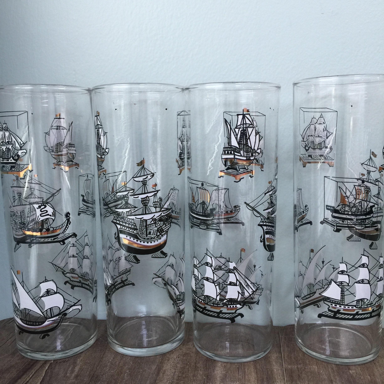 Mid Century Ship Glasses