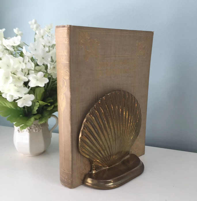 Image 2 of Vintage Brass Shell Bookends