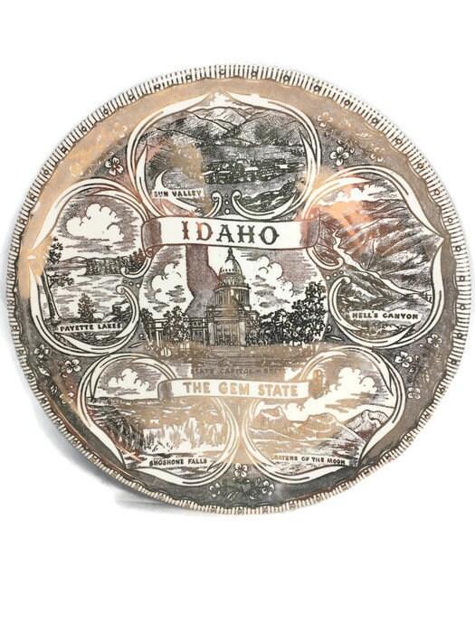 Image 8 of Vintage Idaho Souvenir Plate