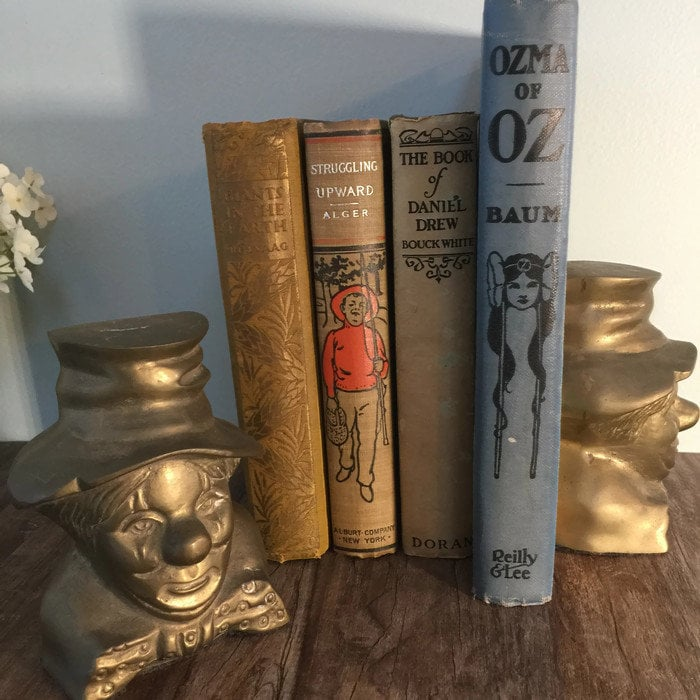 Image 2 of Vintage Clown Bookends