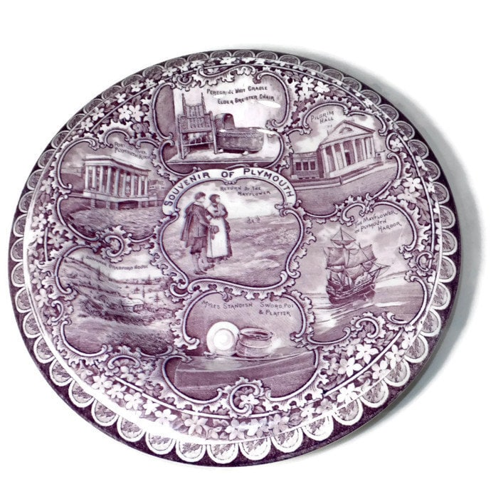 Antique Plymouth Massachusetts Plate
