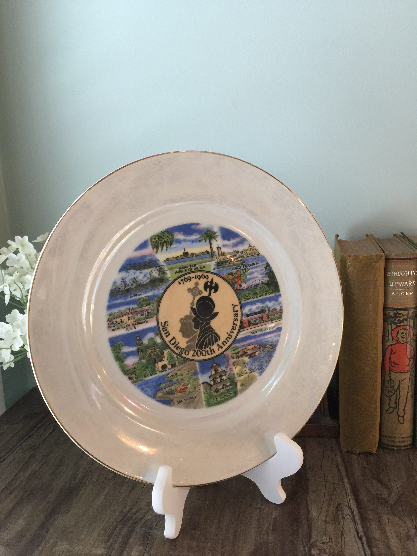 Image 8 of Vintage San Diego Souvenir Plate