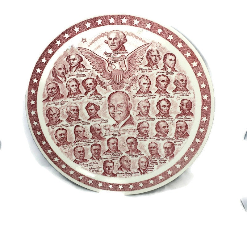 Vintage Our Presidential Gallery Plate