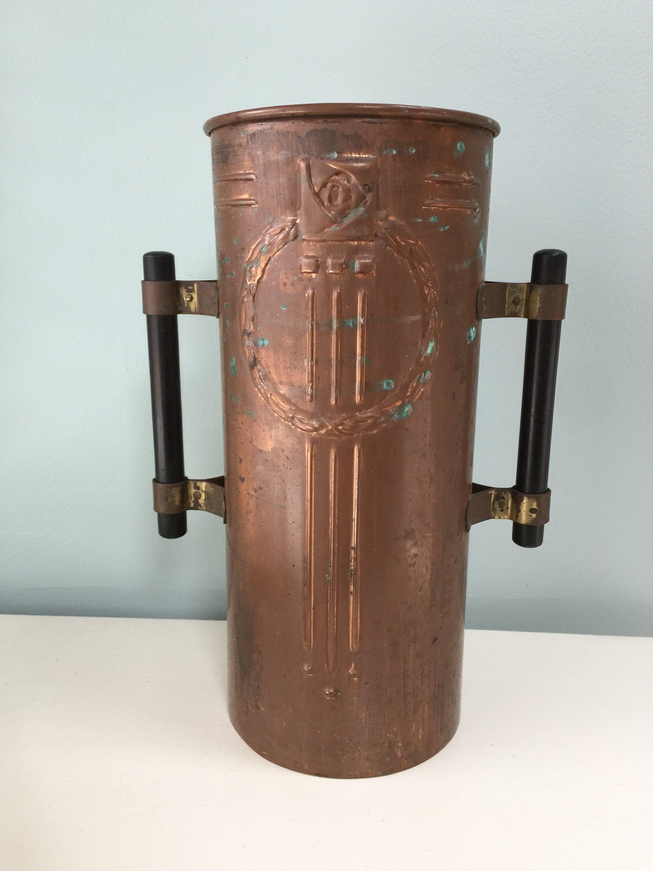 Image 2 of Vintage Copper Arts and Crafts Vase