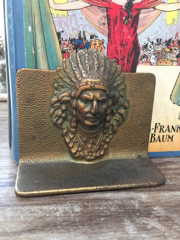 Image 8 of Vintage Indian Chief Bookends