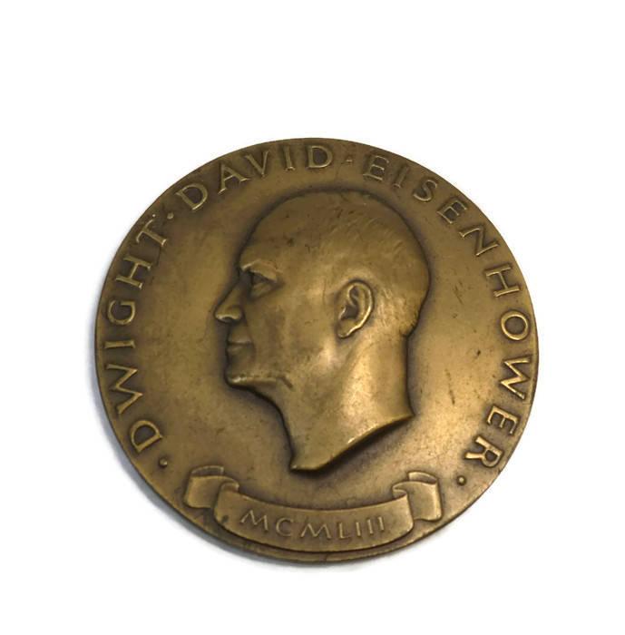 Vintage Dwight D. Eisenhower Bronze Inauguration Medal