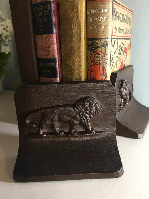 Image 1 of Antique Lion Bookends