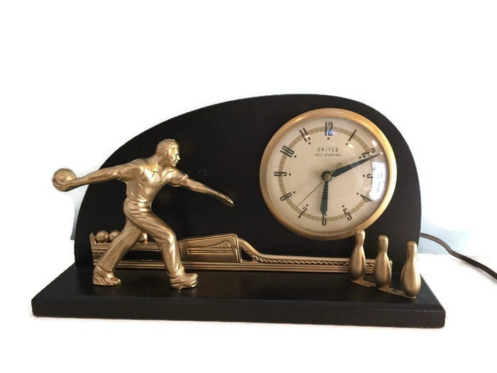Vintage Bowling Clock