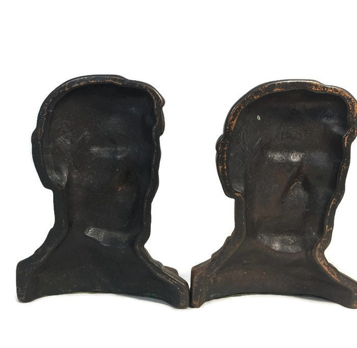 Image 3 of Antique Abe Lincoln Bookends
