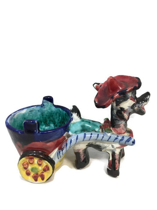 Image 4 of Donkey Cart Ceramic Planter