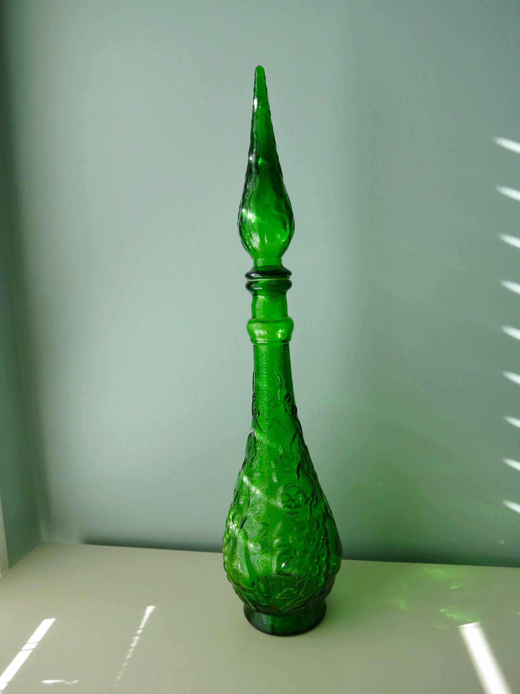 Image 2 of Mid Century Empoli Glass Bottle
