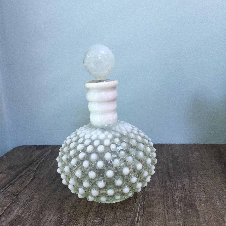 Vintage Fenton Hobnail Opalescent Bottle