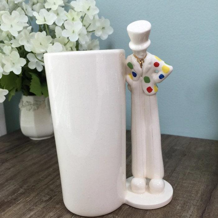 Image 5 of Vintage Circus Clown Vase