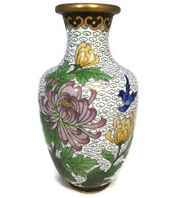 Image 1 of Vintage Cloisonne Vase