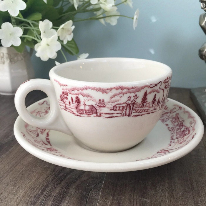 Mid Century Howard Johnson's Coffee Cup and Saucer