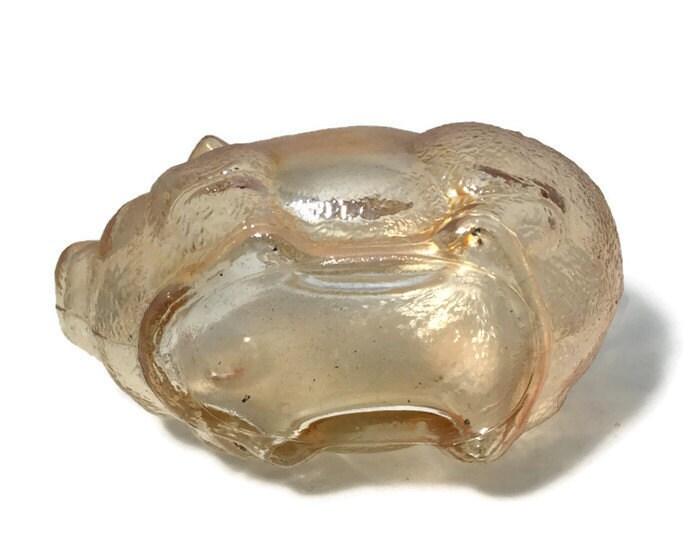 Image 4 of Vintage Amber Glass Piggy Bank