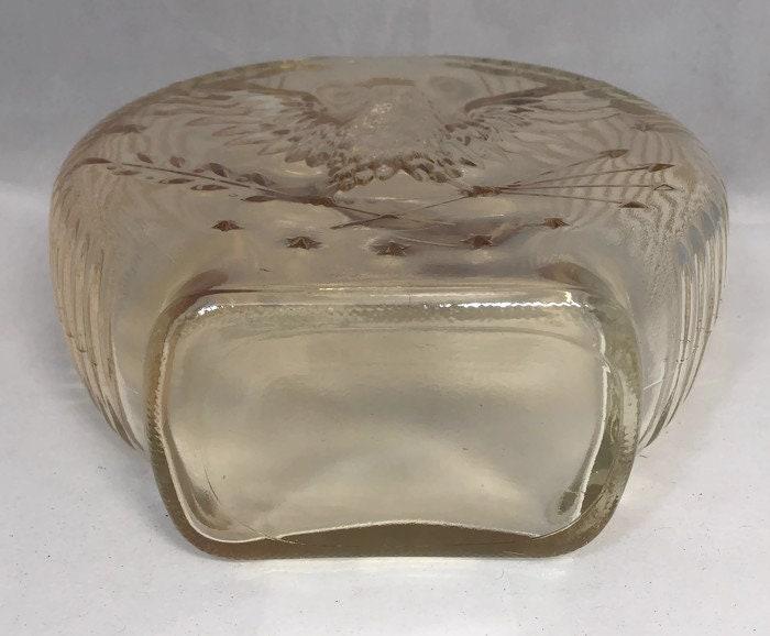 Image 3 of Vintage Amber Carnival Glass Piggy Bank