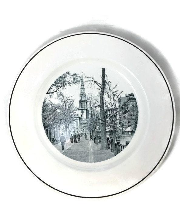Image 2 of Vintage Copeland Spode Boston Plate