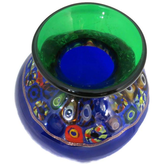 Image 1 of Handblown Blue Glass Vase