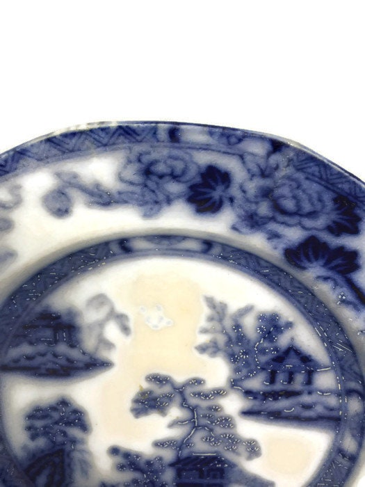 Image 2 of Antique Flow Blue Plate