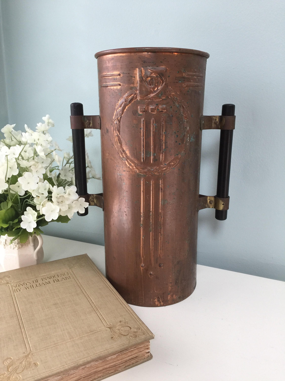 Vintage Copper Arts and Crafts Vase