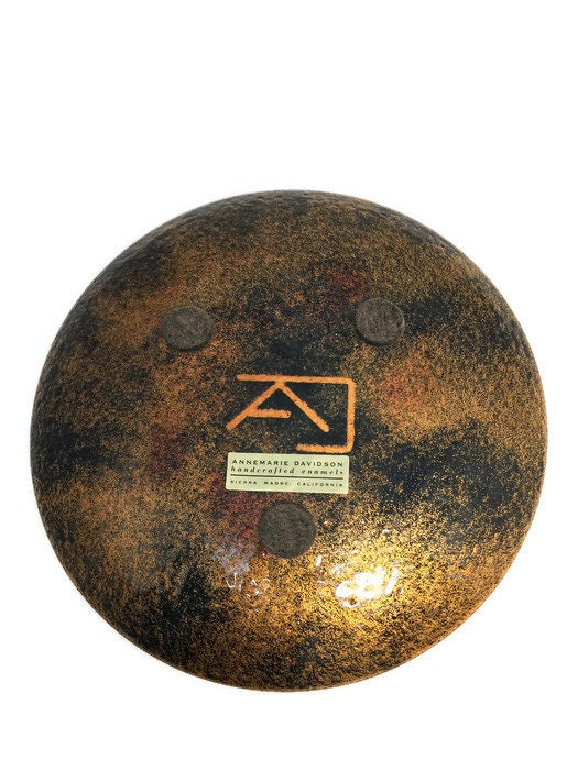 Image 1 of Vintage Enamel on Copper Christmas Plate
