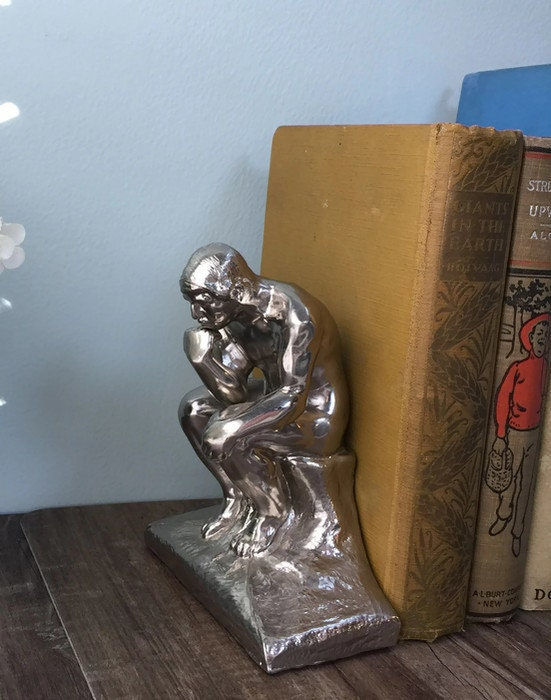 Image 6 of Vintage The Thinker bookends
