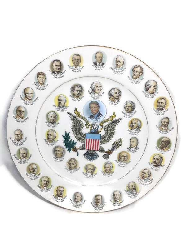 1970s Presidents Plate